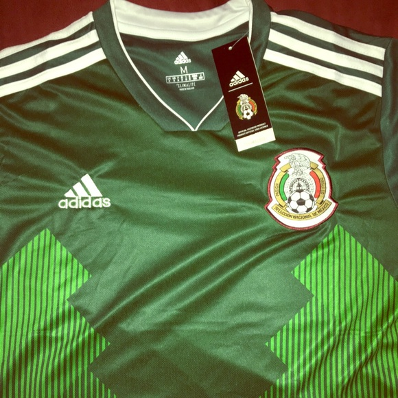 dc2155067969 2018 Adidas Mexico Home Jersey